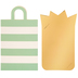 Mint & White Striped Bag Gift Card Holders