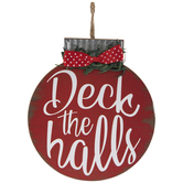 Deck The Halls Wreath Embellishment