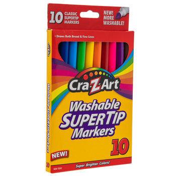 Classic Super Tip Washable Markers - 10 Piece Set