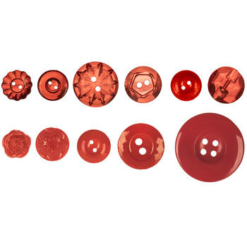 Red Assorted Tonal Buttons