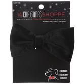 Black Velvet Dog Bow Tie