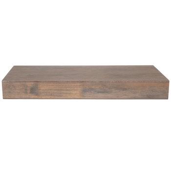 "Gray Wash Floating Wood Wall Shelf - 24"""