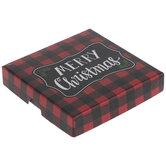Merry Christmas Buffalo Check Gift Card Holder