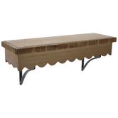 Scalloped Wood Wall Shelf