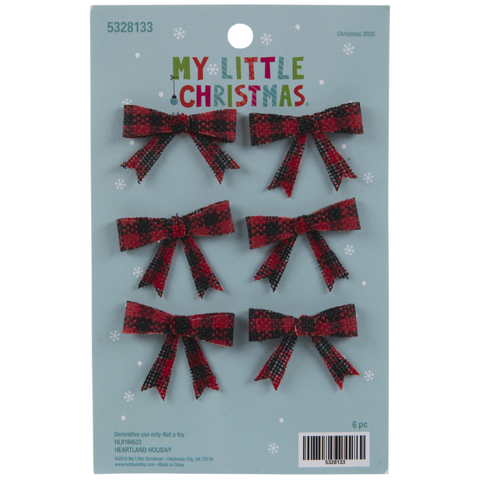 Buffalo Check Bows | Hobby Lobby