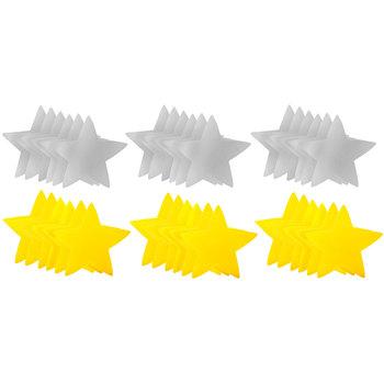 Yellow & Gray Star Paper Cutouts