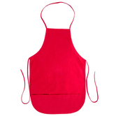 Red Adult Apron with Pocket