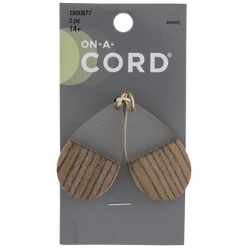 Two-Tone Wood Teardrop Pendants
