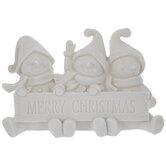 Blank Snowmen Holding Merry Christmas Sign