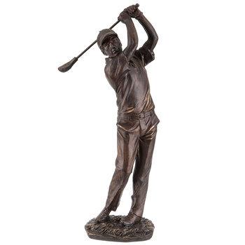 Bronze Swinging Golfer