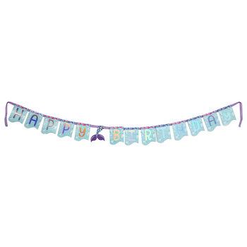 Happy Birthday Mermaid Tail Banner