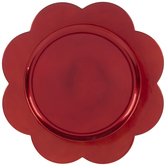Red Flower Plate Charger
