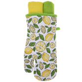 Lemon Oven Mitt & Kitchen Towels