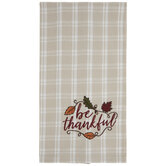 Be Thankful Plaid Kitchen Towel