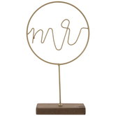 Gold Mr Metal Decor