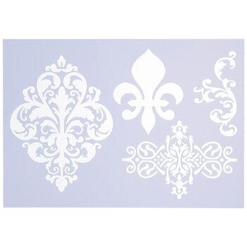 Fleur De Lis & Ornate Icons Stencil