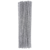 Silver Tinsel Chenille Stems