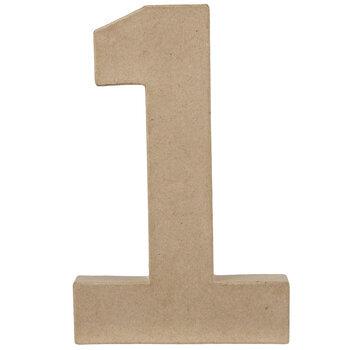 """Paper Mache Number 1 - 8"""""""