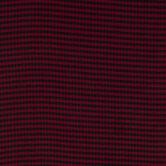 Burgundy & Black Buffalo Check Apparel Fabric