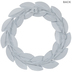 Distressed White Metal Leaf Wreath - Small