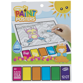 Wild Easter Magic Paint Poster Book