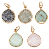 Faceted Teardrop Charms