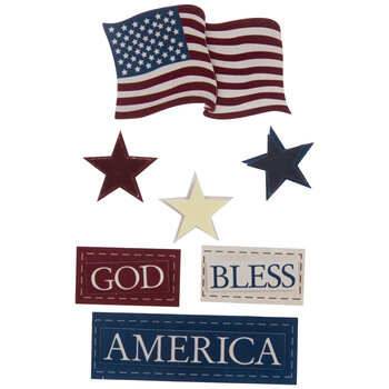 God Bless America 3D Stickers