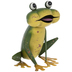 Squatting Metal Frog