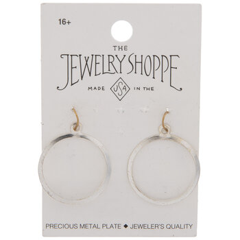Sterling Silver Plated Flat Hoop Charms