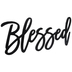 Blessed Black Wood Wall Decor