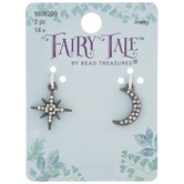 Moon & Star Rhinestone Charms