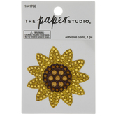 Sunflower Glitter & Rhinestone Sticker