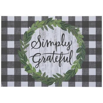 Simply Grateful Buffalo Check Placemats