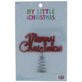 Merry Christmas Mini Tree Topper