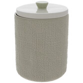 Sage & White Textured Canister