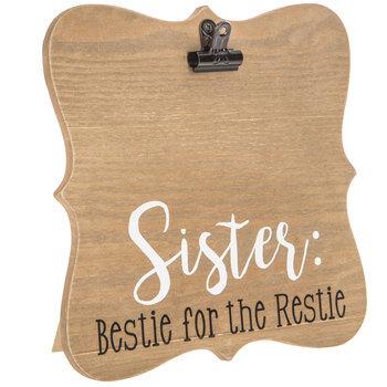 Sister Ornate Wood Clip Frame