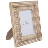 "Natural & White Beaded Edge Wood Frame - 5"" x 7"""