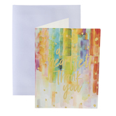 Watercolor Rainbow Thank You Cards