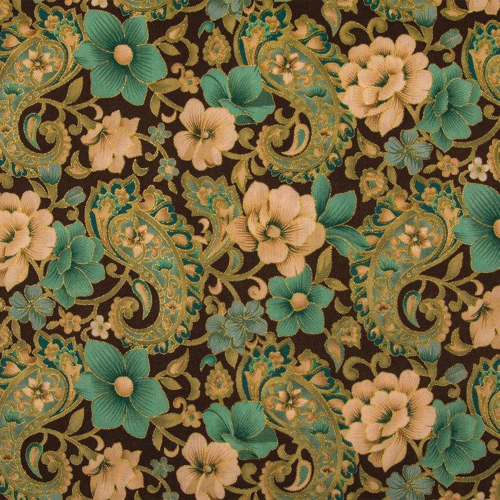 Floral Paisley Medium Weight Cotton Fabric