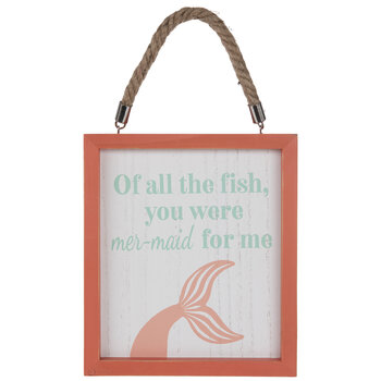 Mer-Maid For Me Wood Wall Decor