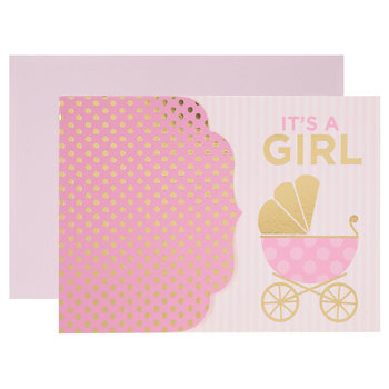 It's A Girl Carriage Invitations