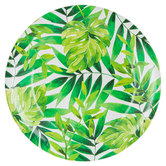 Tropical Leaf Paper Plates - Large
