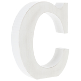 Whitewash Wood Letter - C