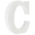 Whitewash Wood Letter - C