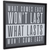 What Comes Easy Wood Wall Decor