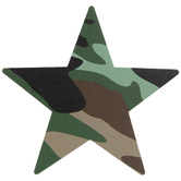 Camo Star Painted Wood Shape