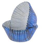 Blue Plaid Baking Cups