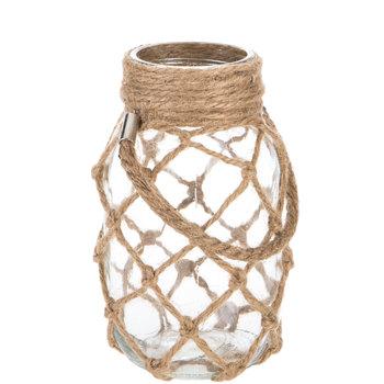 Glass Mason Jar With Jute