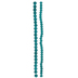 Teal Coated Round Glass Bead Strands