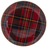Red & Black Plaid Plate
